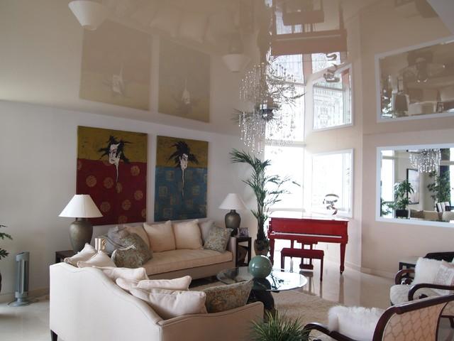 L'HERMITAGE modern-living-room