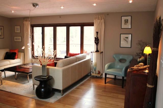 Fabulous L Shaped Campellini Ranch Makeover Contemporary Living Room Inspirational Interior Design Netriciaus