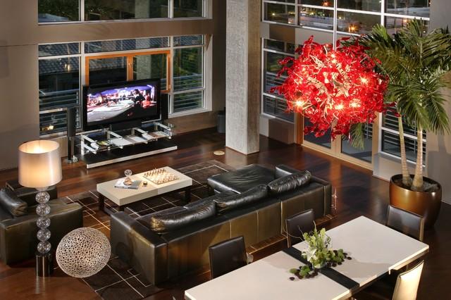 L Street Penthouse, Sacramento CA contemporary-living-room