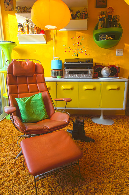 LA 70s Eclectic Living Room Los Angeles By Alex