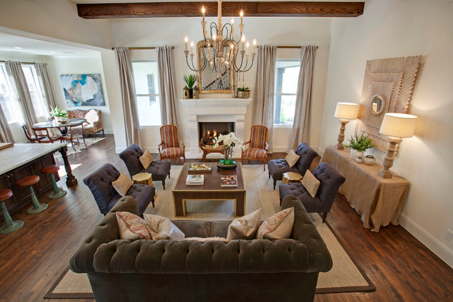 La cantera model home for Model home living room
