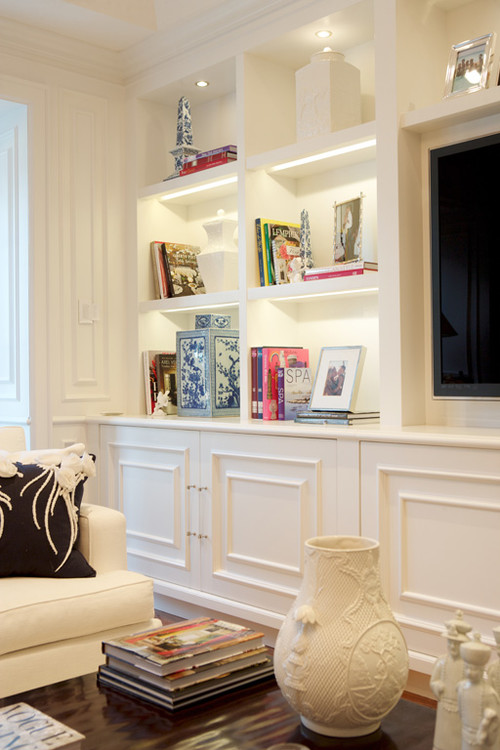 Custom Built-in Wall unit traditional-family-room
