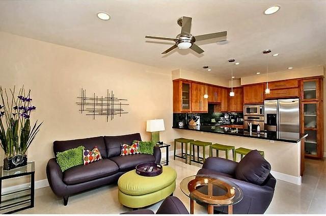La Jolla Beach Condo Modern Living Room San Diego