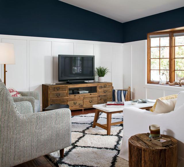 La jolla beach cottage beach style living room san for Living room la jolla