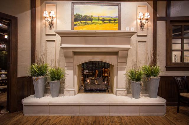 La Madeleine Project Normandy Cast Stone Fireplace Mantelrustic Living Room Dallas