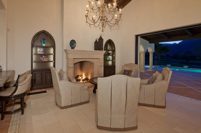 La Quinta, California mediterranean-living-room