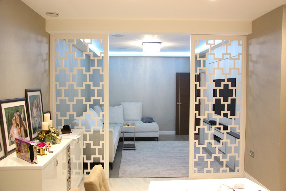 Lacquered Wooden Room Dividers And Tv Media Stand Modern Living Room London By Smart Fit Wardrobes Houzz