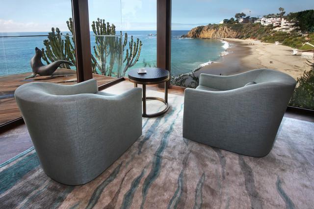 Laguna Beach tropical-living-room