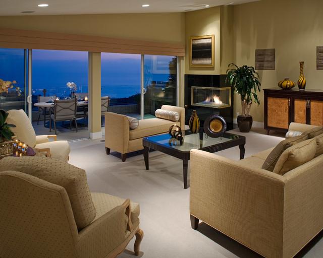 Laguna Beach Home Contemporary Living Room Orange County By Beth Whitlinger Interior Design