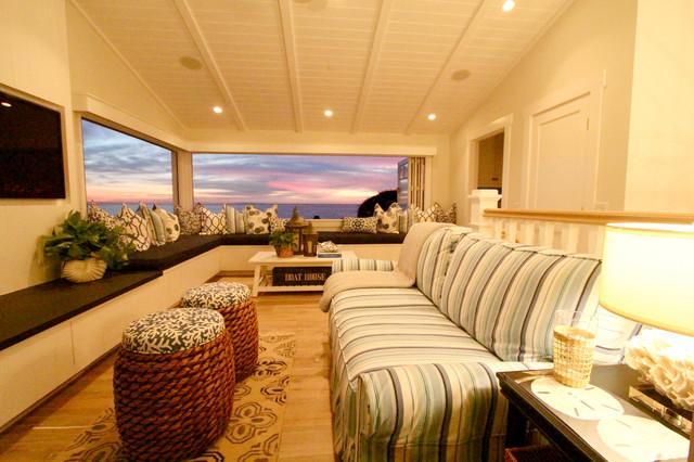 Laguna Beach Residence Beach Style Living Room