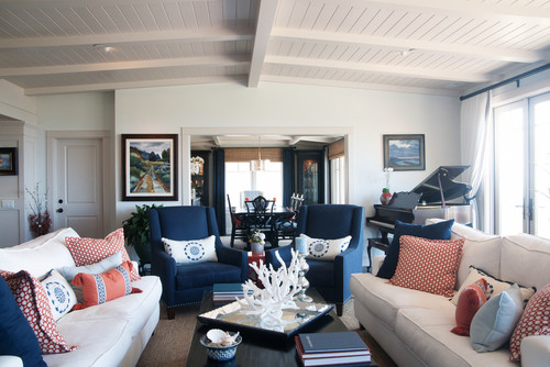 Navy Blue Interior Design Idea Room By Santa Ana Interior Designers Decorators Darci Goodman Design