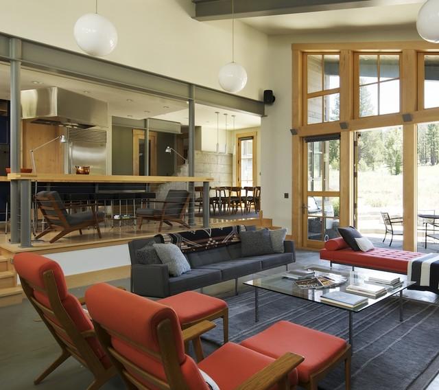 Lahontan Homes Rustic Living Room Los Angeles By