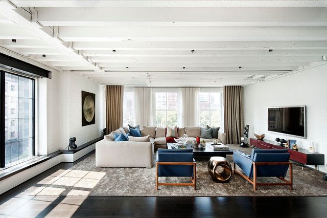 modern living room by David Howell Design