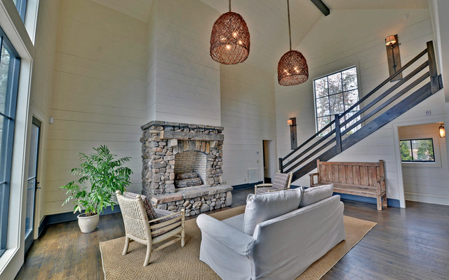 Lake Burton Custom Homes rustic-living-room