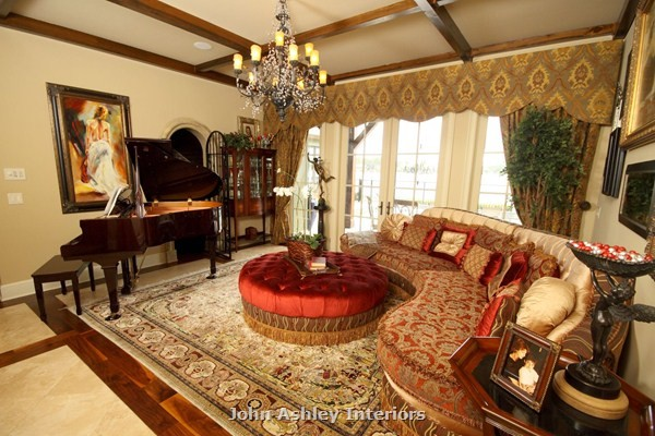 Lake Butler Country French traditional-living-room