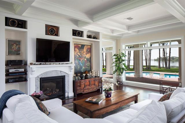 Lake Butler Custom Home - Traditional - Living Room - Orlando - by Keesee Associates