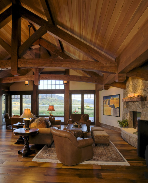 Lake Cabin Rustic Living Room Denver By Lynne Barton Bier Home On The Range Interiors