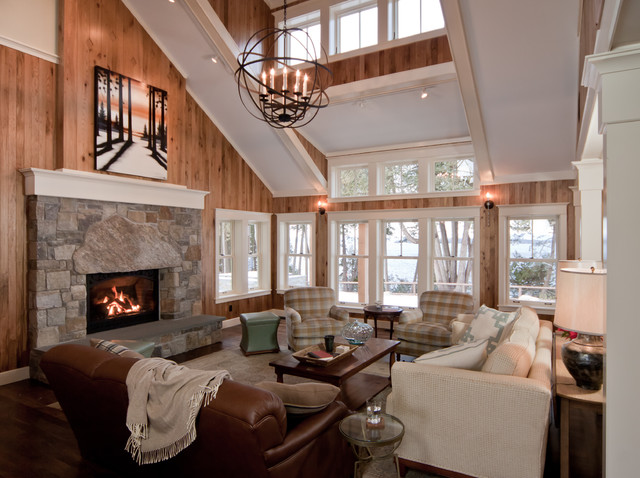 Lake Champlain Vermont traditional living room