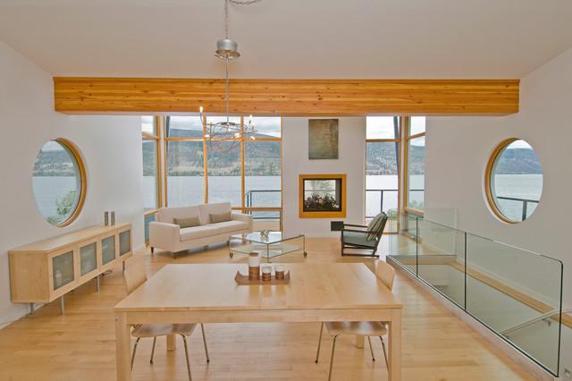 Lake City Home contemporary-living-room