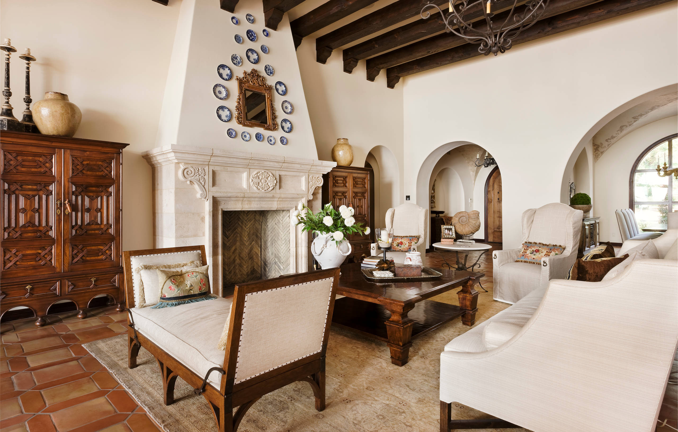75 Beautiful Terra Cotta Tile Living Room Pictures Ideas February 2021 Houzz