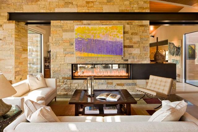 Lake Creek Residence contemporary-living-room