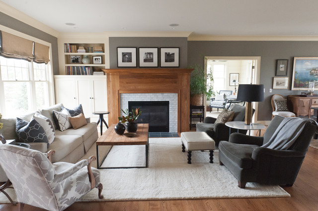Lake Elmo Cape CodBeach Style Living Room, Minneapolis