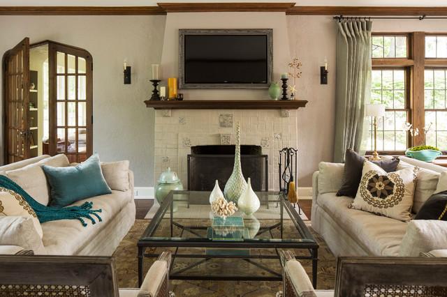 Lake Harriet Tudor Traditional Living Room