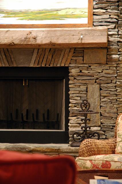 Lake House traditional-living-room