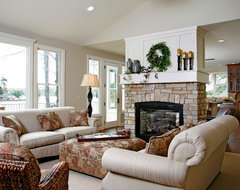 Lake House traditional-living-room