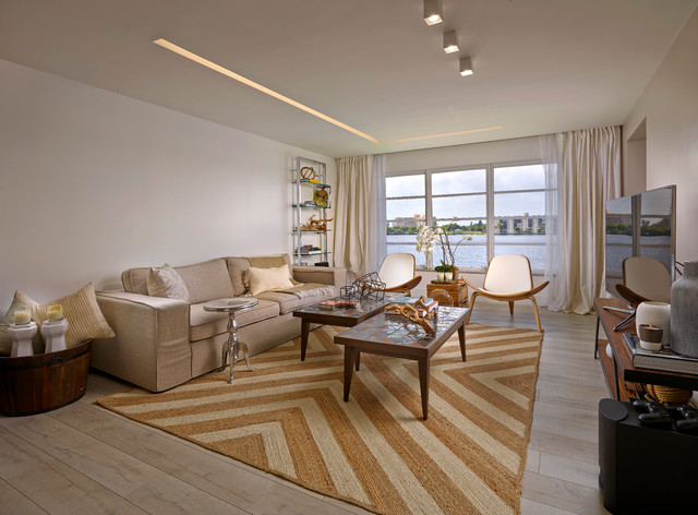 Lake house contemporary living room miami by rs3 for Lake house living room ideas