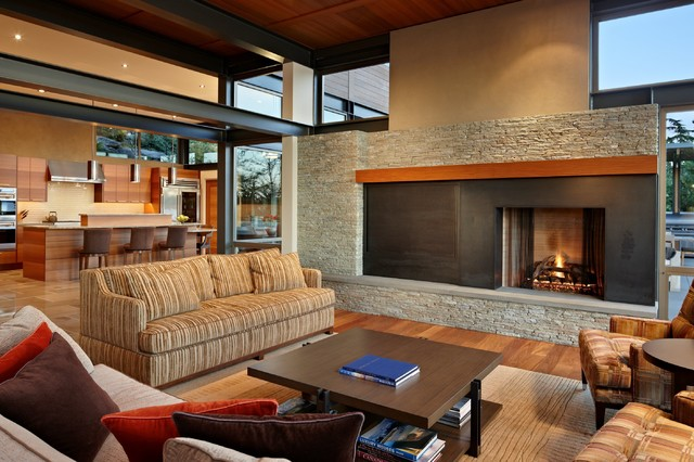 Lake House Two - Living Room contemporary-living-room