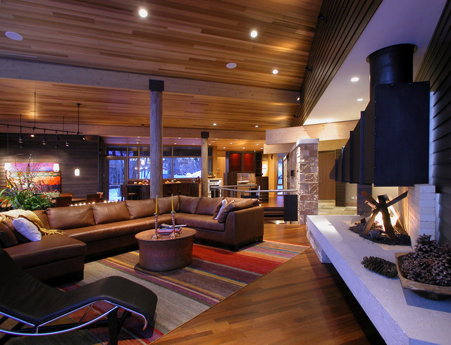 Inspiration for a modern living room remodel in Other