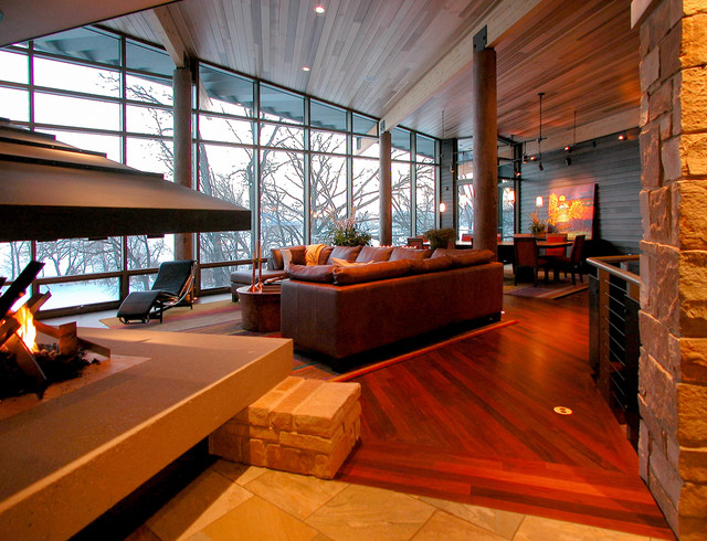 Living room - modern living room idea in Other