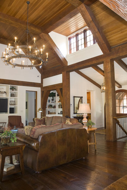 Lake Keowee, SC rustic-living-room