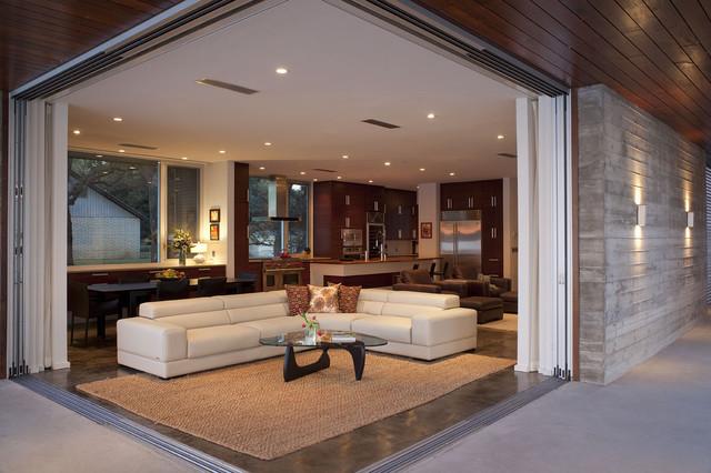 contemporary living room / family room contemporary-living-room