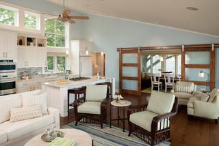 Lake Michigan Remodel Beach Style Living Room Grand