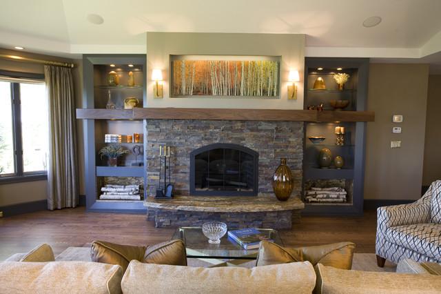 Lake Michigan Retreat traditional-living-room