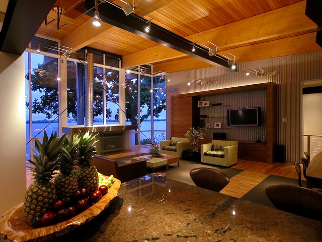 Living room - eclectic living room idea in Other