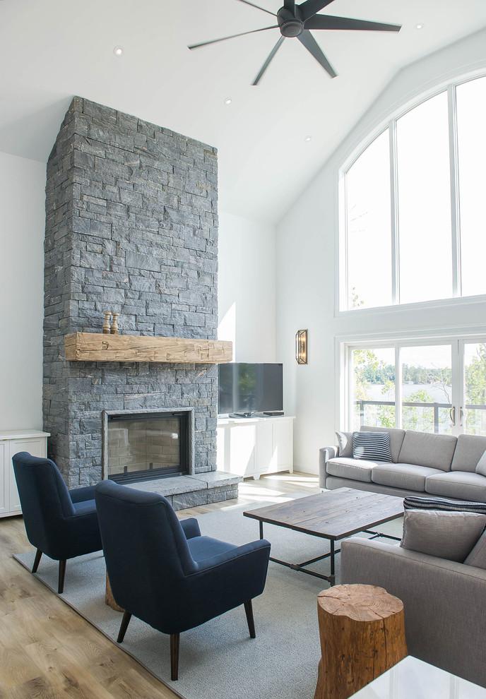 Lake Muskoka Custom Cottage, Muskoka Sloan Fireplace Reviews