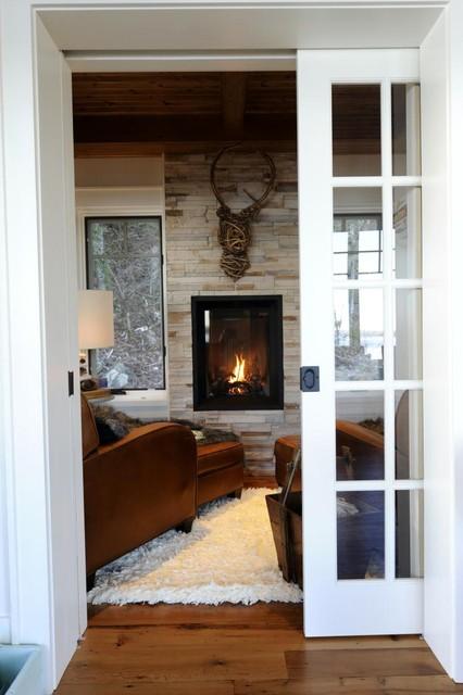 Houzz Cottage Living Room: Lake Of Bays Cottage