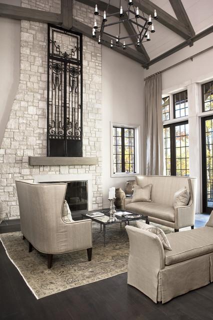 Lake Residence transitional-living-room