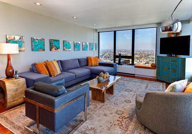 Lake Shore Drive contemporary-living-room