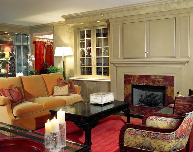 Chicago Condo, Lake Shore Drive traditional-living-room