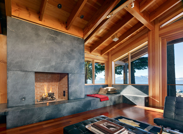Lake Tahoe Residence contemporary living room