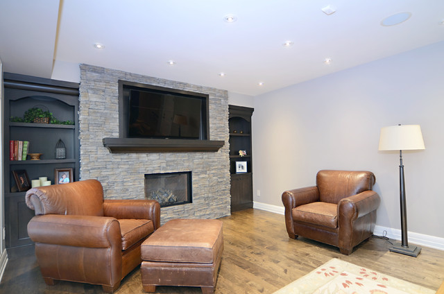 Lake View Project contemporary-living-room