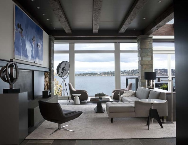 Lake Washington Modern modern living room