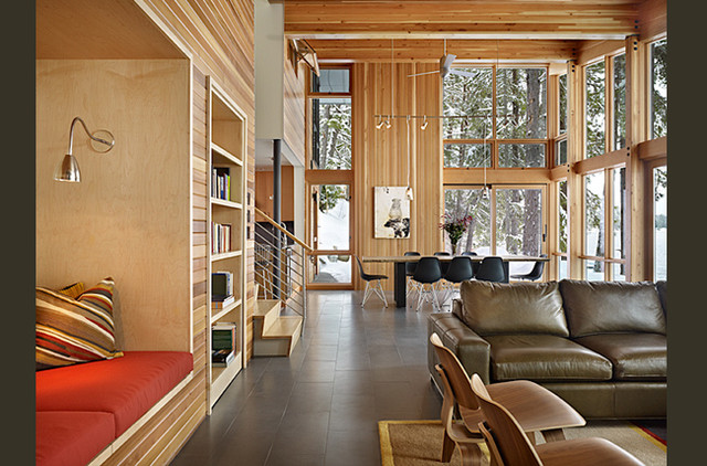 Lake wenatchee cabin modern living room seattle by for Furniture movers seattle