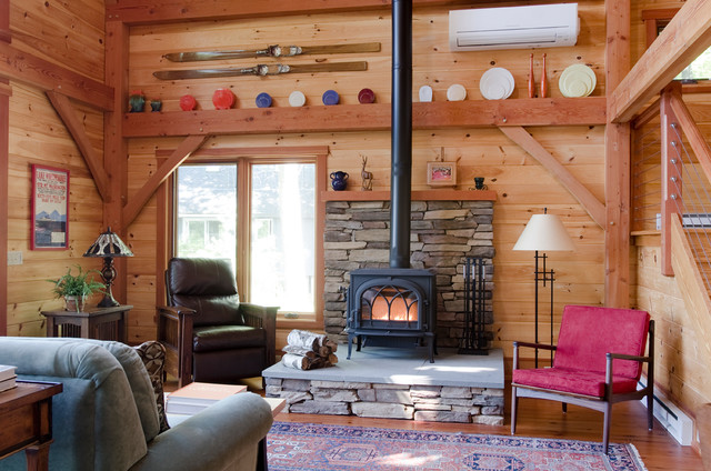 Lake Winnipesaukee Retreat - Rustic - Living Room - Boston - by ...