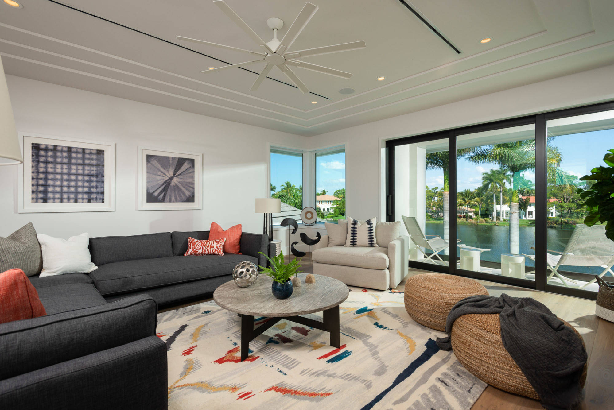 Lakefront in Park Shore custom home just blocks to the Gulf