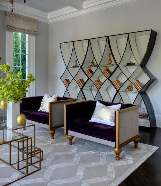 Lakefront luxury classique chic salon chicago par for Salon classique chic
